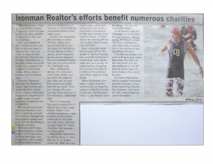 Ironman Realtor's efforts benefit numerous charities