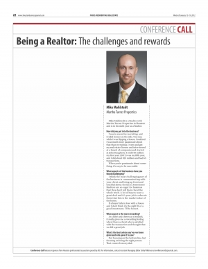 Being a Realtor: The challenges and rewards